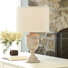 Salerno Urn Table Lamp with Shade  | Lighting | Ballard Designs. Wish they had a photo of the chocolate lamp!