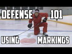 Defense 101 - Using the Markings Hockey Workouts, Hockey Drills, Hockey Shop, Inline Hockey, Youth Hockey, Red Wings Hockey, Hockey Training, Hockey Coach, Hockey Quotes