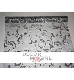 Organzastoff mit glitzerndem Ausläufermuster von hoher Qualität. Farbe: silber/silber Web Design Studio, Drupal, Web Development, Wedding Decorations, Presents, Home Decor, Silver, Colors, Pattern