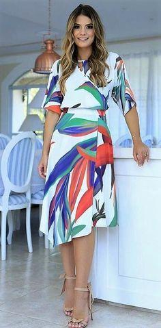 Moda vestidos cortos elegantes ideas for 2019 Winter Fashion Outfits, Modest Fashion, Chic Outfits, Dress Outfits, Casual Dresses, Dresses For Work, Summer Dresses, Western Dresses, Work Attire