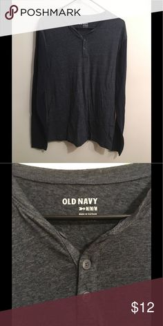 Old Navy Baseball Crew Shirt Dark grey and navy blue long sleeve baseball crew shirt. In great condition. Old Navy Shirts Tees - Long Sleeve