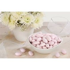 Extra fine Jordan Almonds made with roasted California Almonds and covered with Lavender candy coating! our Fine Jordan Almonds are perfect for Weddings, Shower Baby Shower Supplies, Baby Shower Favors, Party Supplies, Baby Shower Gifts, Candy Recipes, Gourmet Recipes, Nut Store, Pink Jordans, Jordan Almonds