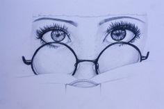 Pencil drawing of girls eyes Pencil Sketches Of Faces, Pencil Drawings, Art Drawings, Face Sketch, Sketch A Day, Drawing Eyes, Illustration Art, Illustrations, Fantastic Art