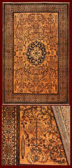 FARAHAN CARPET IRAN - 200 X 130 CM - 6.56 X 4.27 FT - COD. 141128143582