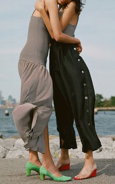 High Rise Button Side Culottes by MARA HOFFMAN for Preorder on Moda Operandi