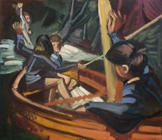 'Susan And Roger Waving To Titty' 2015 oil on wood, Susan Rogers, Arthur Ransome, Swallows And Amazons, Painting & Drawing, Drawings, Artist, Fictional Characters, Paintings, Oil
