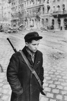 Boy Freedom Fighter Carrying Rifle During Hungarian Revolution Against Soviet Backed Government Photographic Print by Michael Rougier Budapest, Old Photos, Vintage Photos, Freedom Fighters, Historical Pictures, Life Magazine, Cold War, Vintage Photography, My Heritage