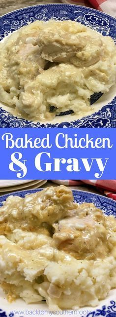 Baked Chicken and Gravy is the perfect comfort food recipe. The chicken recipe is a delicious dinner any time of year.