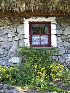 Irish Cottage Window County Clare Ireland