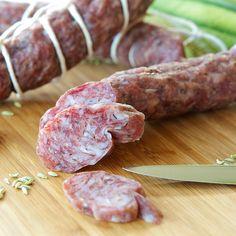 Homemade Fennel Salami