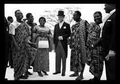 IVORY COAST. Abidjan. Independence celebrations. President Felix HOUPHOUET-BOIGNY and the US representative Robert KENNEDY, US Attorney General . August 7th, 1960.© Raymond Depardon/Magnum Photos