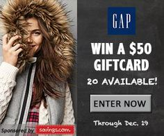 Gap $50 Gift Card Giveaway!!
