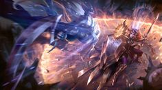 League of Legends Diana vs Leona Game Girl Fight Gisalmeida 1600x900
