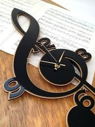 Clef Music Clock made with cnc technology. Made from plywood