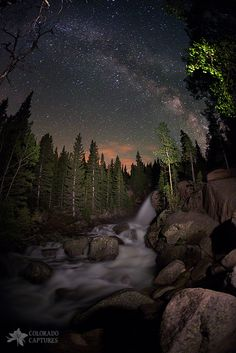 Milky Skies Over Alberta Falls by Mike Berenson - Colorado Captures on 500px