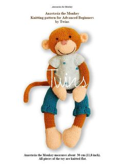 knitted monkey - http://twinsknit.blogspot.com/