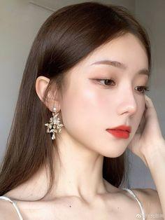 Korean Makeup Look, Asian Makeup, Pretty Korean Girls, Cute Korean Girl, Aesthetic Hair, Aesthetic Makeup, Uzzlang Girl, Girl Face, Makeup Inspo