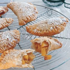 Fried Peach Pies Recipe DOUGH 2 c. plus 2 T flour 2 tsp conf. Hand Pies, Just Desserts, Dessert Recipes, Mini Desserts, Sweet Desserts, Southern Fried Catfish, Peach Pie Recipes, Recipe For Fried Peach Pies, Fresh Peach Pie