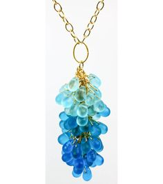 #DIY Blue Ombre Drop Necklace from Jo-Ann Fabric and Craft Stores