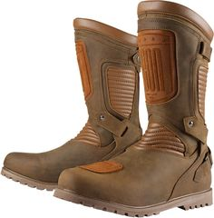 Icon 1000 CE Prep Boot in Brown. Also available in Black from www.ministryofbikes.co.uk #Icon #MOBstyle @iconmotosport