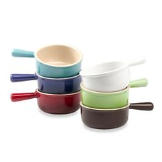 Le Creuset French Onion Soup Bowls - This handled bowl is a colorful way to serve one of my favorite soups.