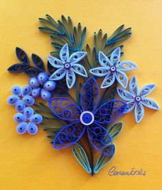 Quilling. Shades of purple. By Canan Ersöz.