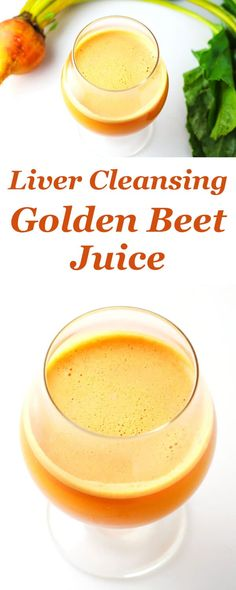 Liver Cleansing Golden Beet Juice made with fresh Beets Carrots Apples and Ginge… - Detox juice Detox Diet Drinks, Detox Juice Recipes, Natural Detox Drinks, Detox Juices, Diet Detox, Smoothie Recipes, Detox Foods, Smoothie Bowl, Detox Kur