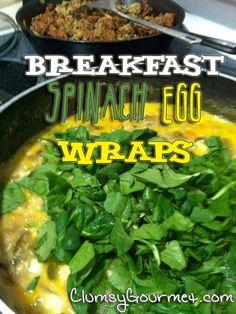 Breakfast Spinach Egg Wrap Recipe