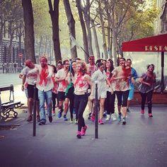 Direction chez Nomades! #boostbastille qui prend Paris! #zombierun #halloween