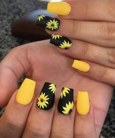 nails for kids acrylic & nails for kids ; nails for kids cute ; nails for kids easy ; nails for kids cute short ; nails for kids cute and easy ; nails for kids acrylic ; nails for kids gel ; nails for kids cute unicorn Nail Design Glitter, Yellow Nails Design, Cute Acrylic Nail Designs, Best Acrylic Nails, Acrylic Nails Yellow, Yellow Nail Art, Fake Nail Designs, Pastel Nails, Bright Summer Acrylic Nails