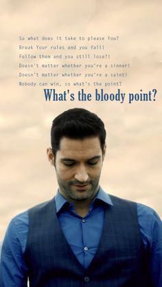 Lucifer confused about why he cares for Chloe so much. Lucifer confused about why he cares for Chloe so much. Tv Show Quotes, Movie Quotes, Tom Ellis Lucifer, Nerd, Memes, Morning Star, Old Love, Film Serie, Series Movies