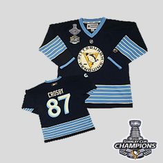 Penguins  87 Sidney Crosby Dark Blue 2011 Winter Classic Vintage   2016StanleyCup  Champions · Stanley CupPittsburgh PenguinsNhl JerseysSidney  ... 9cbc3f4df