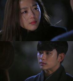 """Song Yi: """"Estoy perfectamente feliz. Do Min Joon"""". Min Joon: """"Qué pasa, Chun Song Yi?"""". Song Yi: """"Do Min Joon, a quien amo. Es tiempo para que despertemos de nuestro sueño""""- él se da cuenta que algo esta mal- """"Tú, por mi bien...existe en algún otro lado. Por mi bien, no mueras. Existe en algún lado. Lo que digo es...Vete, al lugar de donde eres"""" - My Love From Another Star Episodio 19 My Love From Another Star, Emotionally Drained, Cardcaptor Sakura, Korean Dramas, Kdrama, Decir No, Kpop, Stars, Te Amo"""