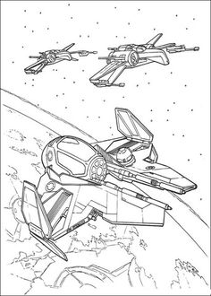 Eta 2 Starfighter And T 65 X Wing Coloring Page From Attack Of The Clones Category Select From 2 Star Wars Coloring Book Star Wars Spaceships Star Wars Models