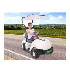 Kids Battery Powered Golf Cart With Canopy