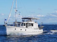 """Dolphin"" - Clem Masters. Moreton Bay Cruiser Saint Helena Island, St Helena, Sail Boats, Boat Design, Wooden Boats, Dolphins, Sailing Ships, Muscle Cars, Masters"