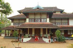 Kerala, Husband and wife, Cute Couple. Bamboo House Design, Kerala House Design, Design Your Dream House, My Dream Home, Kerala Architecture, Vernacular Architecture, Village House Design, Village Houses, Kerala Homes