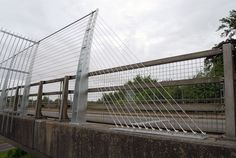 Lincoln Road Bridge Balustrade    Stainless Steel Safety Cables