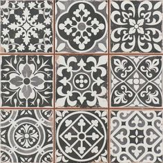 Carrelage ancien mat noir 33 x 33 cm - FS1104007 26€TTC/m2 - comptoir du cerame- pour sol sous et derriere comptoir
