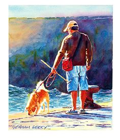 """Another look by Graham Berry Watercolor ~ 12"""" x 10"""""""