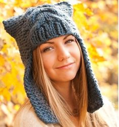 Knitting Pattern - Knit Hat Knitting Pattern PDF for The Dragon Slayer Earflap Helmet Hat - Fall Fashion Autumn Accessories.
