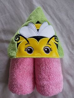 Kids Hooded Towel,Bumble Bee Hooded Towel,Hooded Towel,Personalized Hooded Towel,Hooded Kids Bath Towel,Hooded Beach Towel,Ready To Ship by RenegadesCreations on Etsy