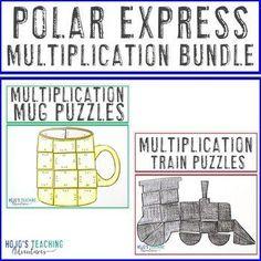 MULTIPLICATION Polar Express Math Games - Train Polar Express Activities, Hot Chocolate Mug, Fast Finishers, Maths Puzzles, Critical Thinking Skills, Multiplication, Ways To Save Money, Math Games, Small Groups