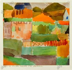Dans les maisons de Saint-Germain Paul Klee 1914