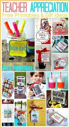 15 Teacher Appreciation Free printables for last minute gift ideas