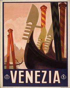 Venezia Travel Poster - Vintage Art Print Poster - A1 A2 A3 A4 A5 | eBay