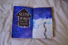 wreck this journal climb up high doctor who tardis. Except i would put a silhouette of Clara somewhere on there.