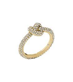 05d82598ed6f Pavé Gold-Tone Knot Ring by Michael Kors Michael Kors Ring