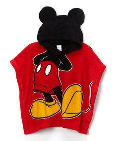 Love this Mickey Mouse Plush Hooded Poncho - Boys by Mickey Mouse on #zulily! #zulilyfinds