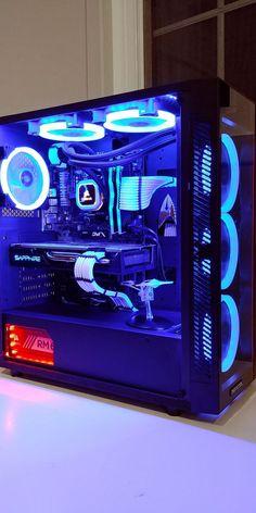 Star Trek PC Blue for warp. Red for impulse Ryzen 2600 RX 580 - Gamer House Ideas 2019 - 2020 Custom Gaming Computer, Gaming Computer Setup, Best Gaming Setup, Gaming Pc Build, Gamer Setup, Computer Build, Gaming Pcs, Gaming Room Setup, Pc Setup